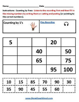 K - Counting and Comparing to 100 - Mental Health or Medical Conditions