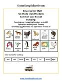 K - Rhode Island:Geometry, Algebraic, Base 10, Measure & Data,Counting to 100