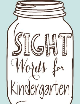 K Sight Words (includes sight words, color, and number words)