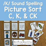 /K/ Sound Spelling Sort - C, K, CK