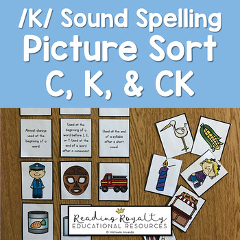 /K/ Sound Spelling Picture Sort - C, K, CK