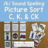 /K/ Sound Spelling Sort - C, K, CK