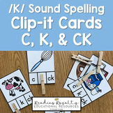 /K/ Sound Spelling Clip-It: C, K, CK