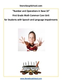Grade 1 - Speech and Language Impairments - Number and Operations in Base 10