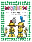 K Spring Things (Done For You) Color by Addition
