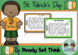 K St. Patrick's Day Action (Print & Go) Color by Addition and Subtraction