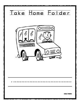 K Take Home Folder Cover