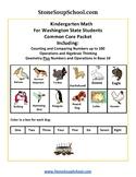 K - Washington State: Geometry,Algebraic,Base 10, Measure & Data,Counting to 100