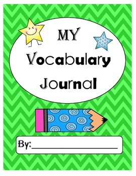 K-2 Vocabulary Journal