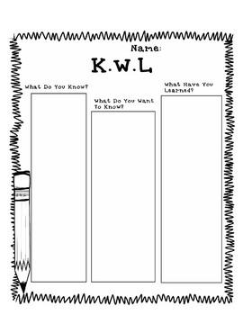 K.W.L Sheet