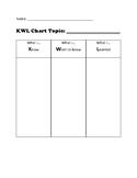 K-W-L chart