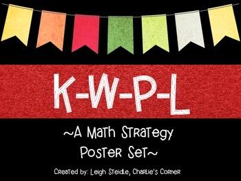 K-W-P-L Math Strategy Poster Set