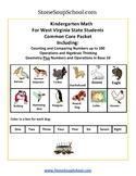 K - West Virginia: Geometry, Algebraic, Base 10, Measure & Data, Counting to 100