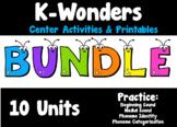 K-Wonders Center Activities Bundle (Units 1-10)
