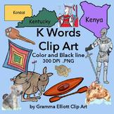 K  Kn Words Clip Art