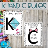 K and C Rules Posters!