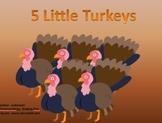 K and D 5 little turkey poem