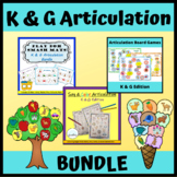 K and G Articulation BUNDLE: Speech Therapy Board Games, Crafts, and Coloring