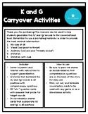 K and G Articulation Carryover Activities