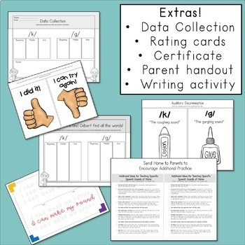 K and G Articulation Activities for Speech Therapy