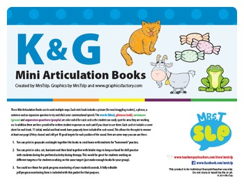 K and G Mini Articulation Books