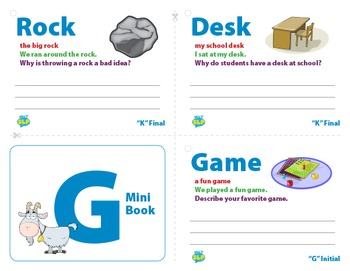 Articulation Mini Books: K and G Sounds