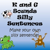 K and G Silly Sentences Articulation/Language Packet