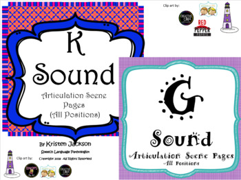 K and G Sound Articulation Pages Bundle