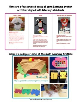 CENTERS & Academic Learning Stations-for K/PK....CCSS aligned!!!