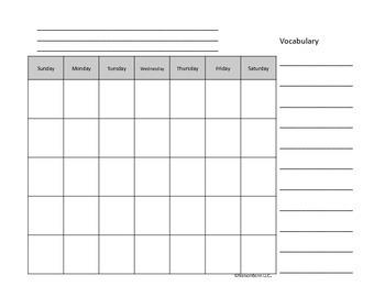 K calendar Notebooks