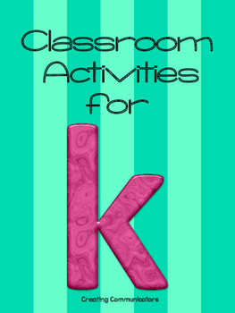 K in the Classroom- Push-In Therapy