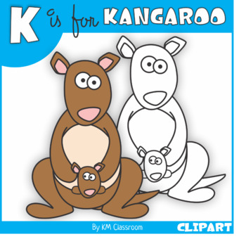 K is for Kangaroo Clip Art
