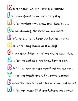 'K' is for Kindergarten