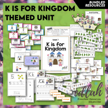 K is for Kings Themed Lesson Plans (one week)