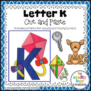 Letter K (Kite) Cut and Paste