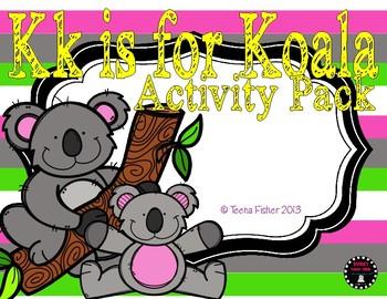 K is for Koala Common Core Alphabet Activity Pack {K.RF.1