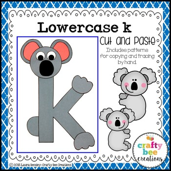 K is for Koala Cut and Paste