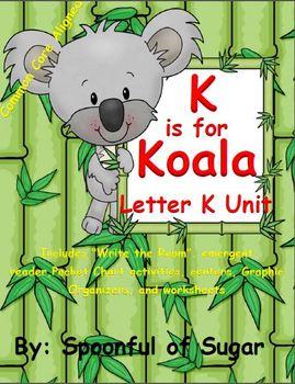 K is for Koala (Letter K Unit)