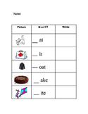 K or C Phonics Worksheet