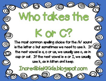 K or C chart