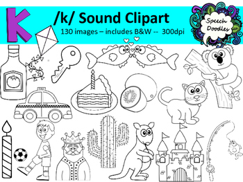 K sound clipart - 130 images! Personal and Commercial use. Articulation clipart