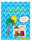 K to 1 Sight Word Summer Journals and Games