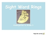 K to 3 Sight Word Rings Bundle