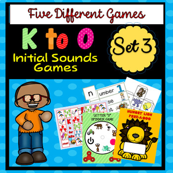 K to O Initial Sounds - Five Different Games