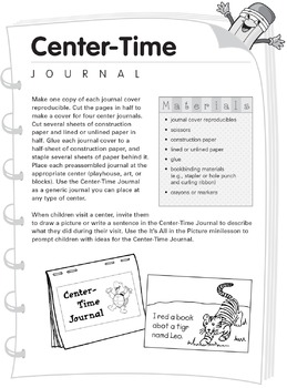K–1 Journals: Center-Time Journal