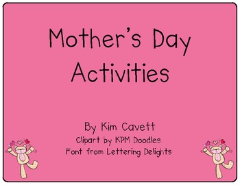 K/1 Mother's Day Activities Freebie
