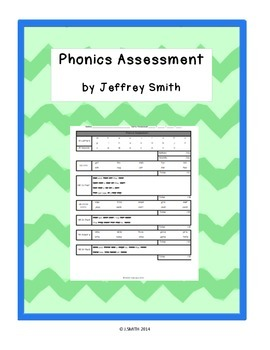 K/1 Phonics Assessment