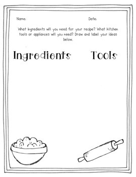K/1 Procedural Writing Unit: Recipes