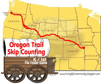 Oregon trail game teaching resources teachers pay teachers k1st2nd grade oregon trail skip counting file folder game freerunsca