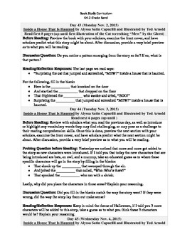 K4-2 Grade Band Reading Curriculum/Program (November)